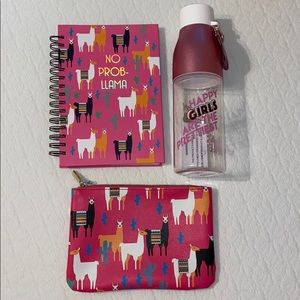 Back-To-School Pack (Waterbottle, spiral, & pouch)